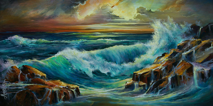 Seascape Painting - Seascape by Michael Lang