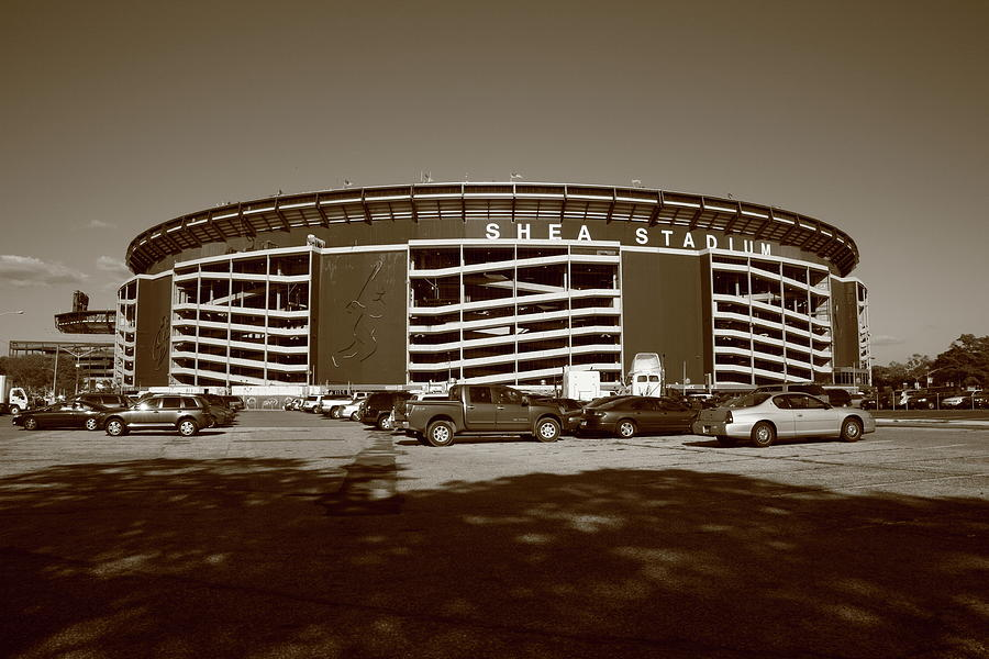 Architecture Photograph - Shea Stadium - New York Mets by Frank Romeo
