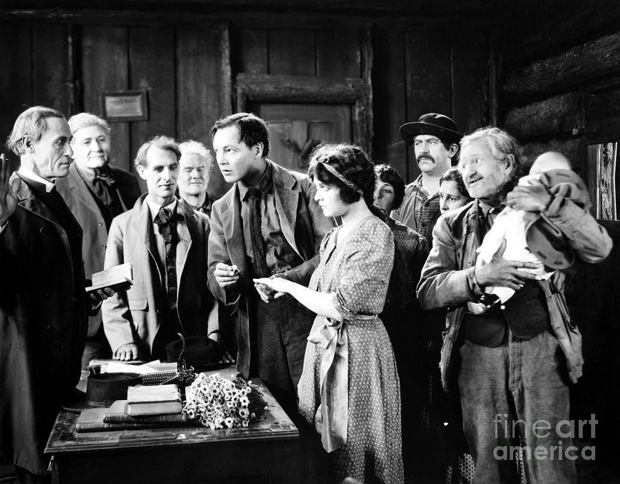 -weddings & Gowns- Photograph - Silent Film Still: Wedding by Granger