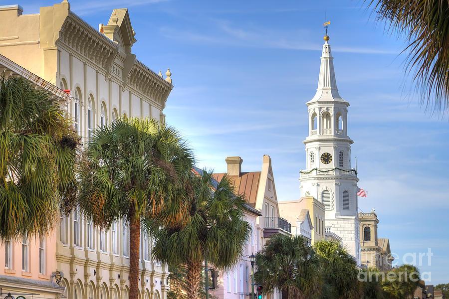 St Michaels Church Charleston Sc Photograph - St Michaels Church Charleston Sc by Dustin K Ryan