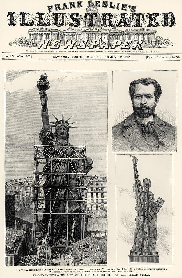 Statue Of Liberty, 1885 Photograph