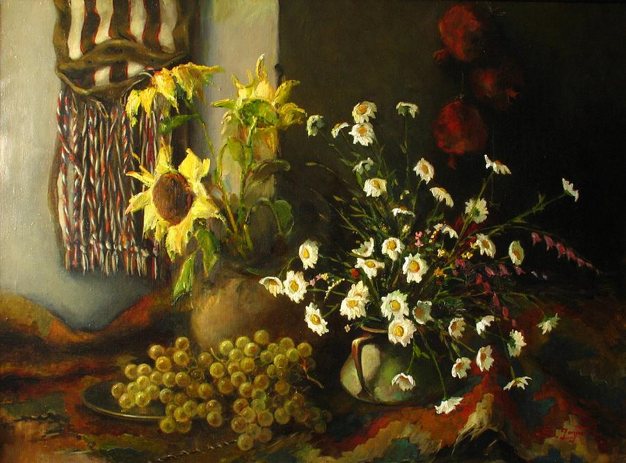 Armenian Painting - Still-life With Sunflowers by Tigran Ghulyan