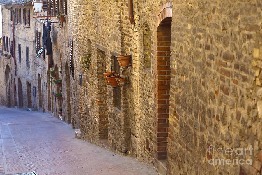Streets Of San Gimignano Photograph