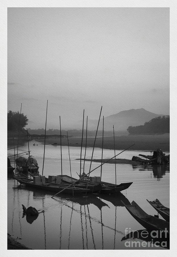 sunset at Mae Khong river Photograph