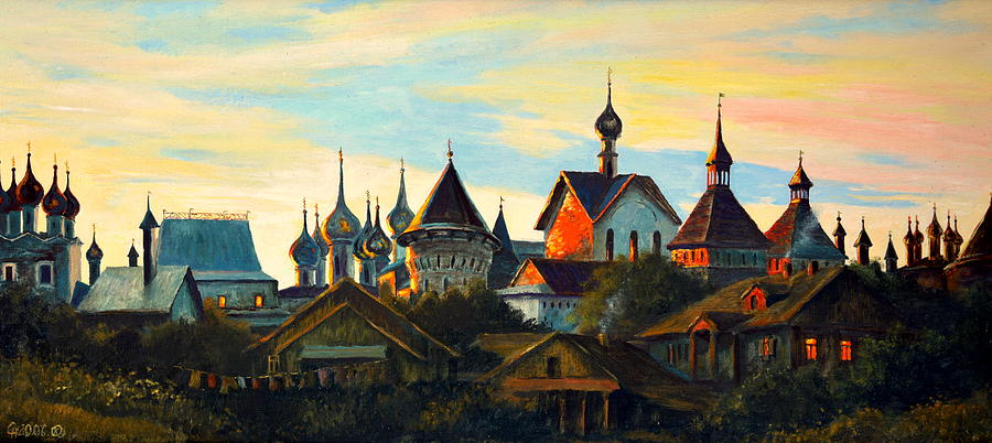 Henryk Painting - Sunset In Rostov by Henryk Gorecki