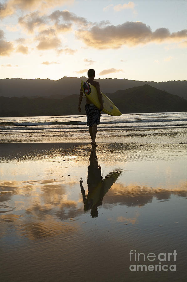Active Photograph - Sunset Surfer by Kicka Witte - Printscapes