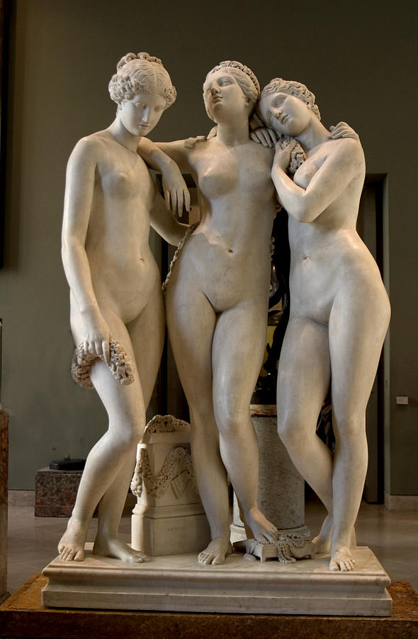 Graceful Sculpture - The Three Graces by Carl Purcell