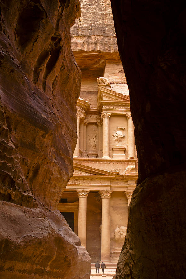 Middle East Photograph - The Treasury Of Petra by Michele Burgess