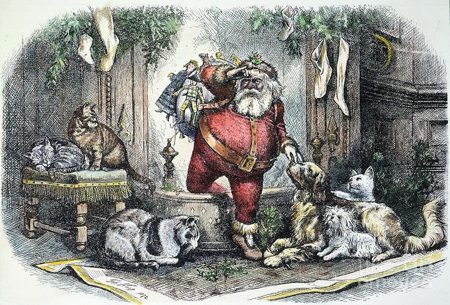 1872 Photograph - Thomas Nast: Santa Claus by Granger