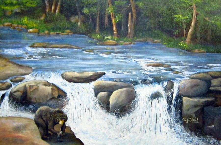 Water Falls Painting - Twin Falls Diner by Dottie Kinn