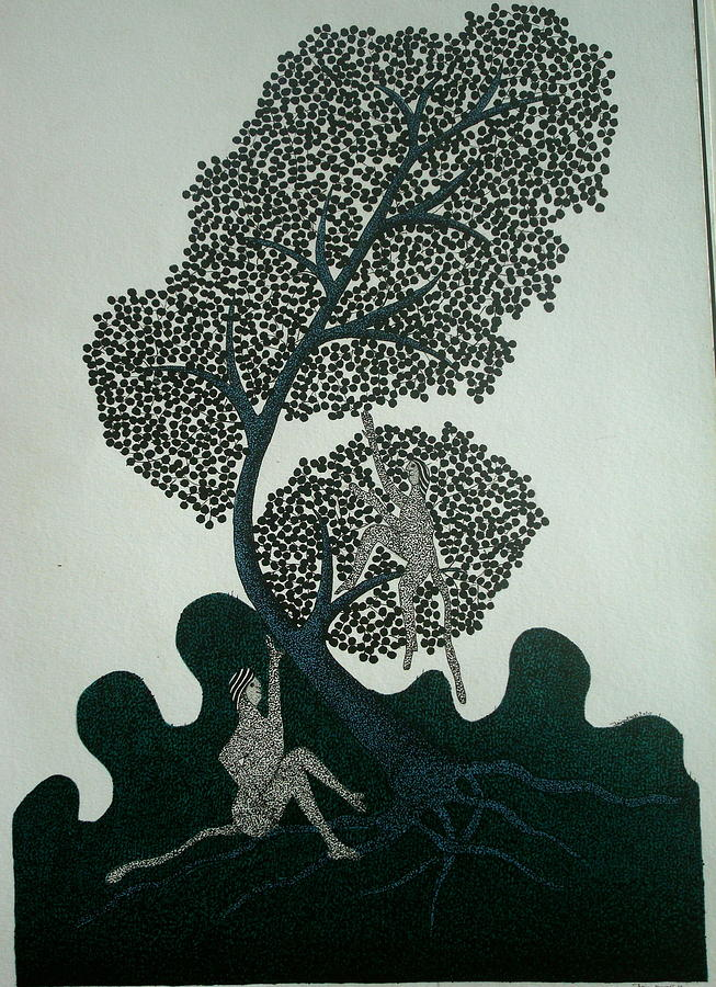 Gond Art Painting - Untitled by Mayank Shyam