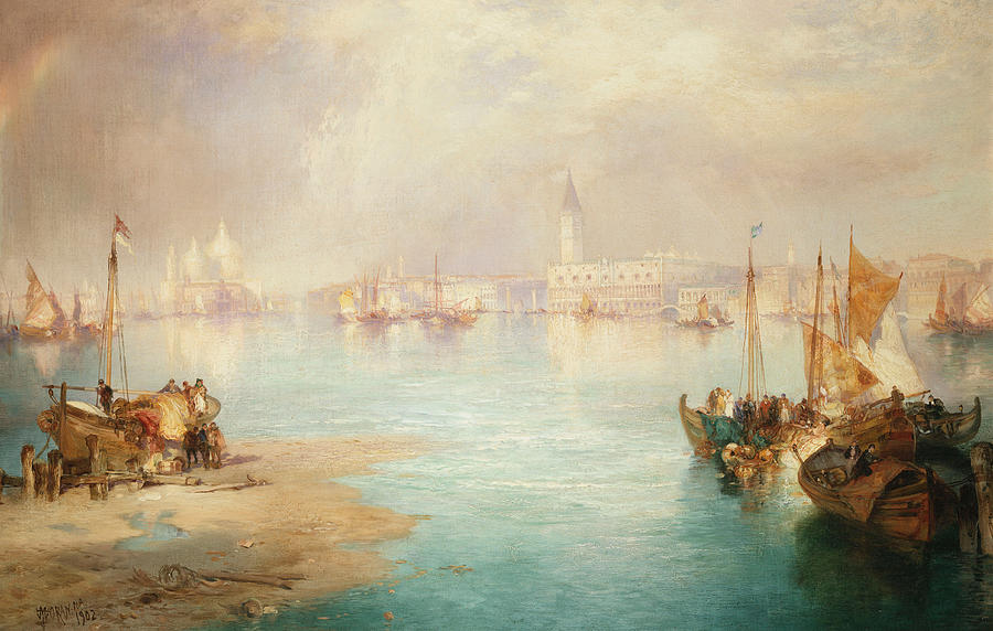 Thomas Moran Painting - Venice by Thomas Moran