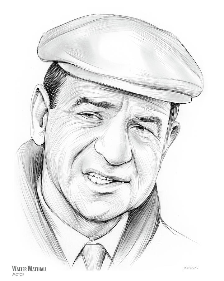 Walter Matthau Drawing