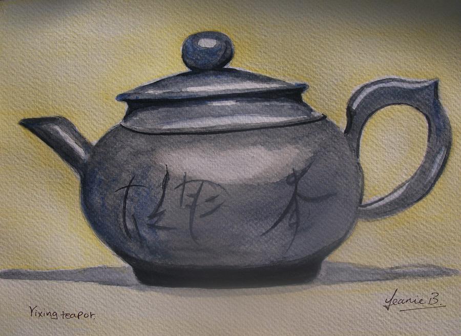 Still Life Painting - Yixing Teapot by Jean Billsdon
