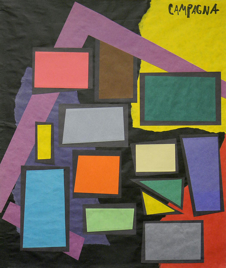 Blocks Of Pure Color Framed In Black. Red Tapestry - Textile - Untitled by Teddy Campagna