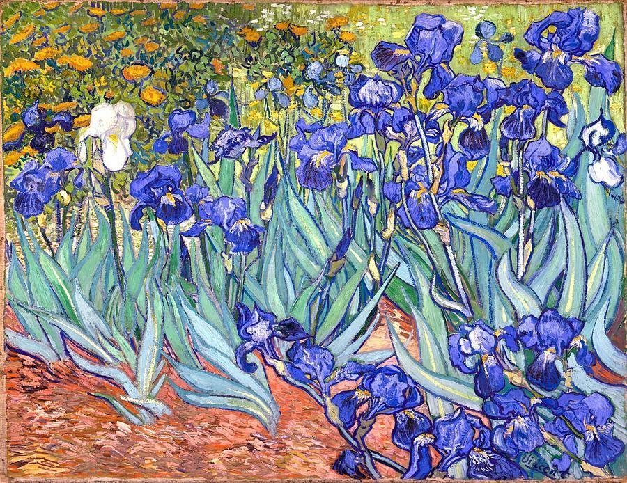 Irises Painting