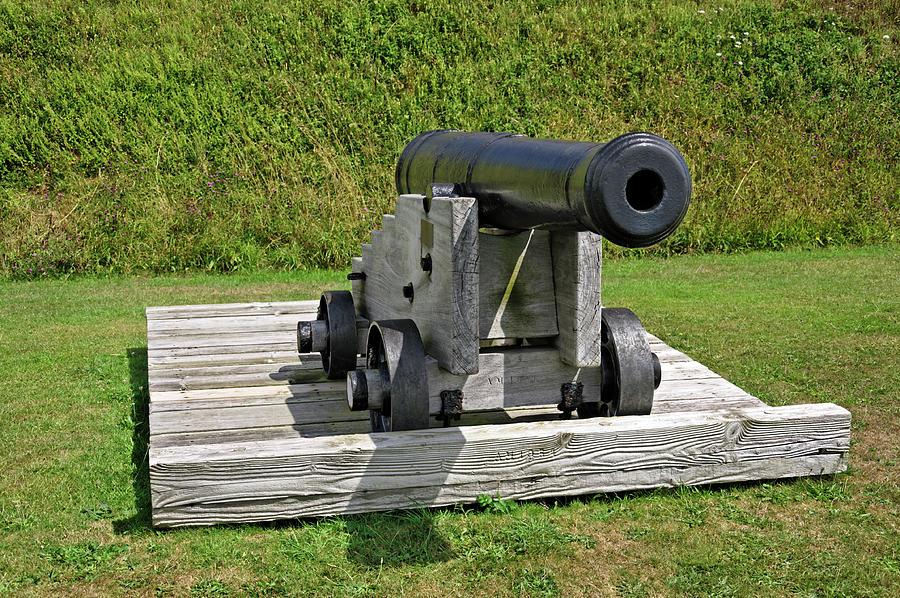 24-pounder English Gun - St Mawes Castle Photograph