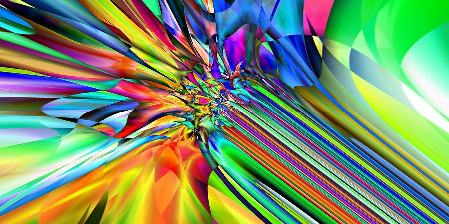 Abstract Digital Art - 2x1 Abstract 308 by Rolf Bertram