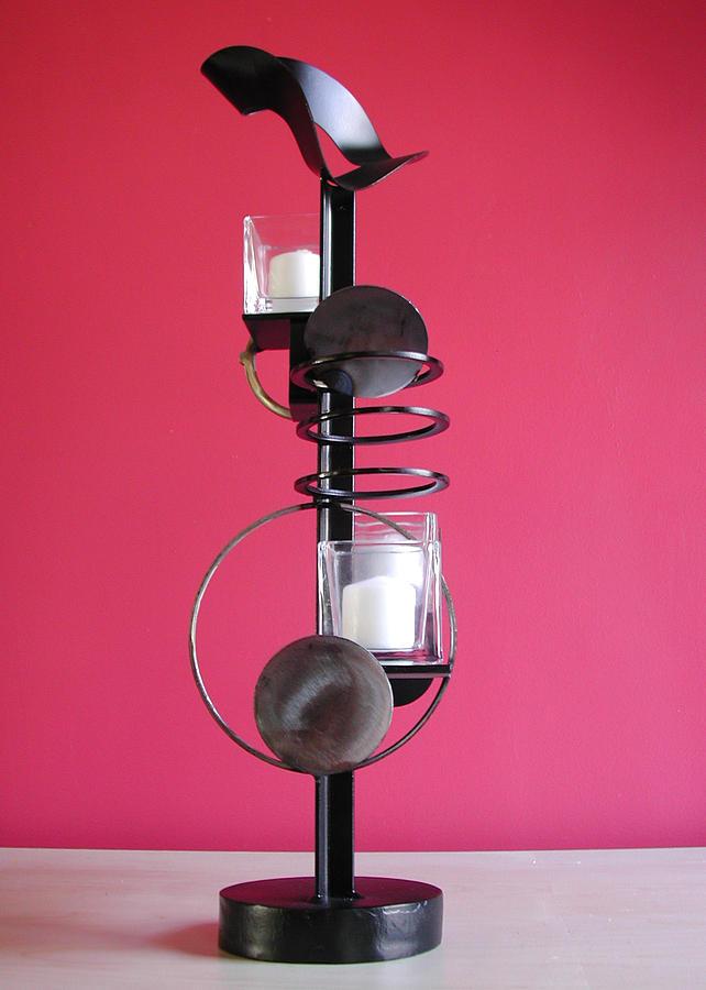Candle Holder Sculpture - Candle Holder Model 7 by John Gibbs