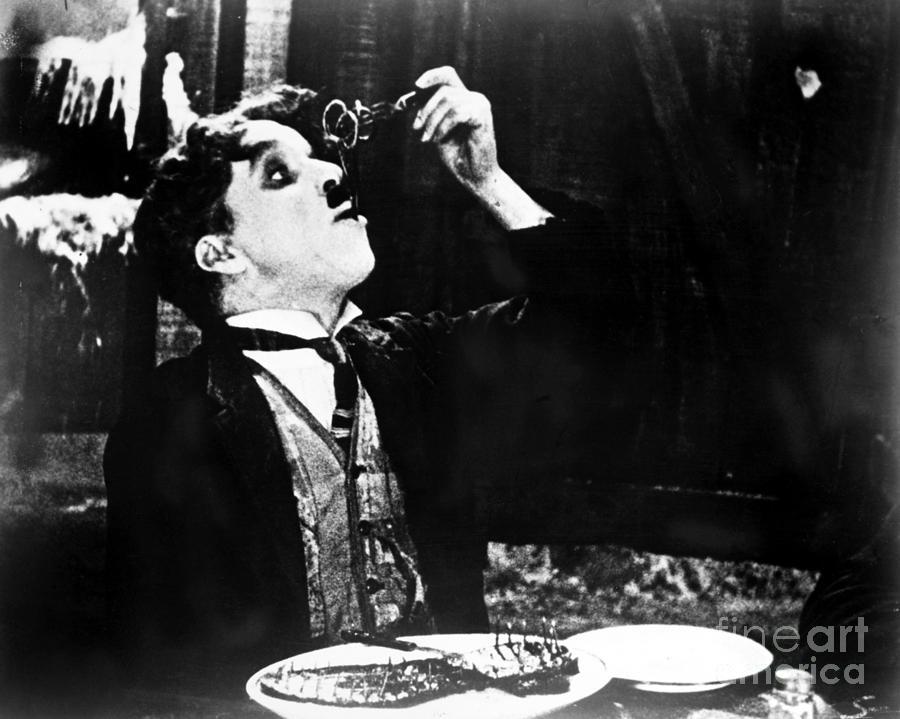 1925 Photograph - Chaplin: Gold Rush. 1925 by Granger