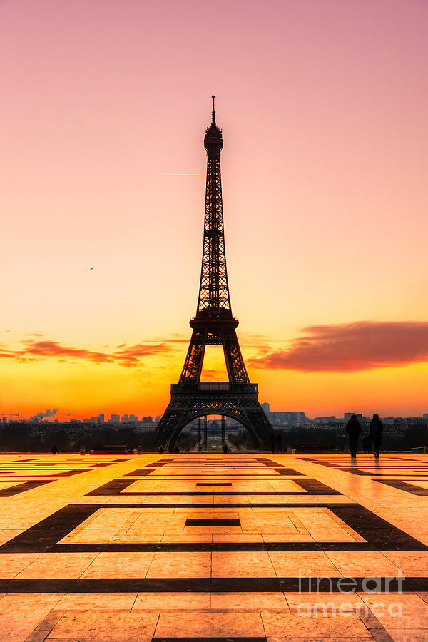 Eiffel Tower At Sunrise Paris Photograph By Luciano Mortula