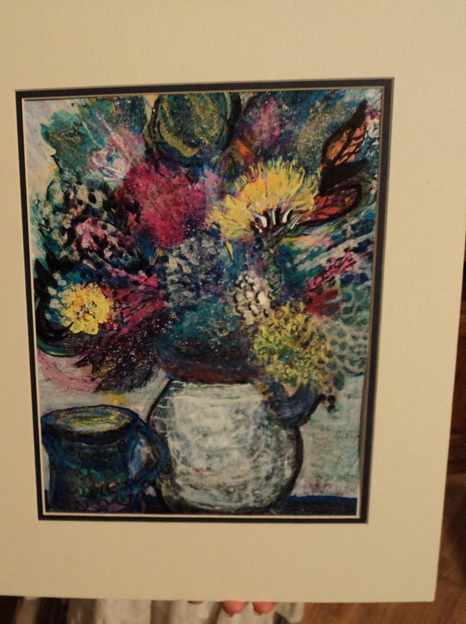 Flowers Painting - Floral Work In Progress by Anne-Elizabeth Whiteway