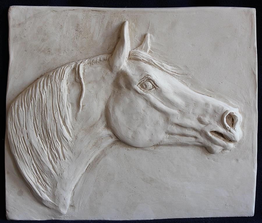 Horse head relief by sabina bonifazi