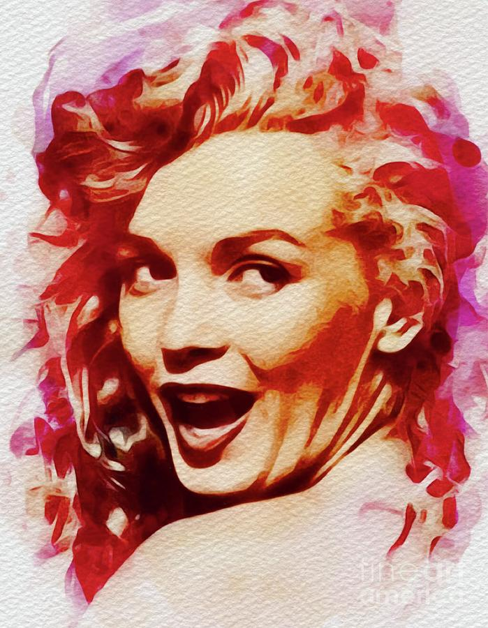 Marilyn Monroe, Pinup And Actress Painting