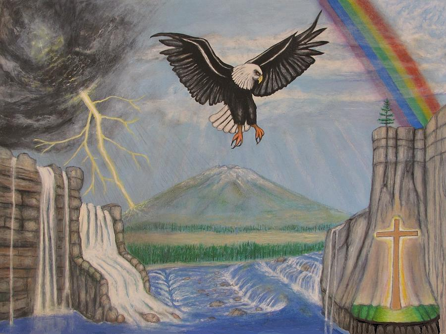 Landscape Mixed Media - My Youth Is Renewed Like The Eagles by Neal David Reilly