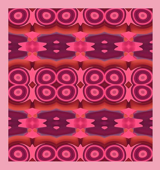 Pink Abstract Pattern Painting - Original Abstract Pattern by Mohammad Safavi naini