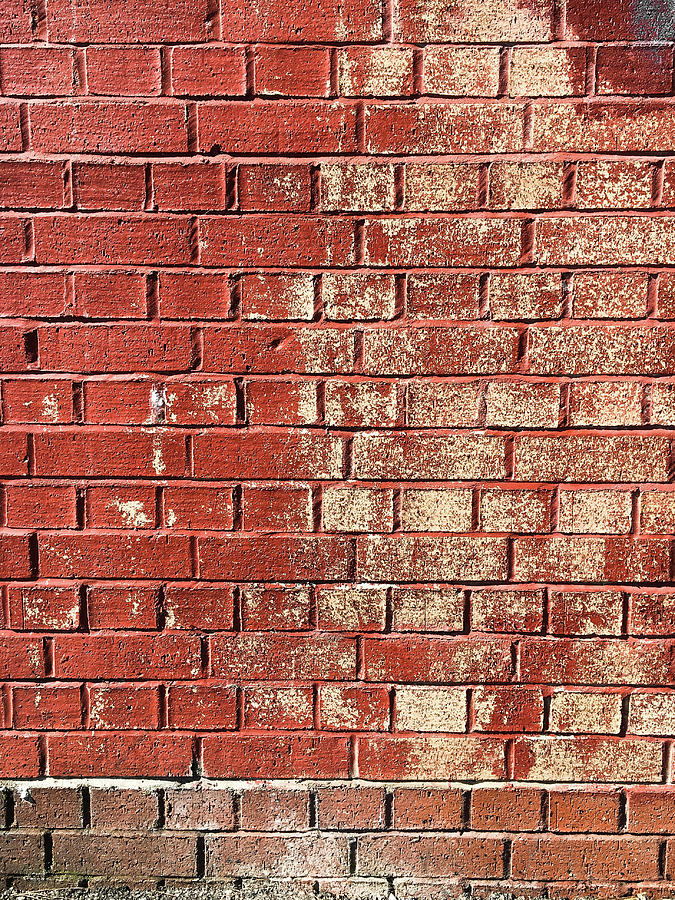 Red Brick Wall Decor : Red brick wall photograph by tom gowanlock