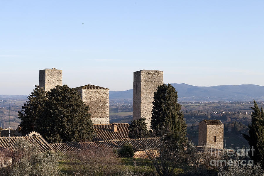 Ancient Photograph - San Gimignano by Andre Goncalves