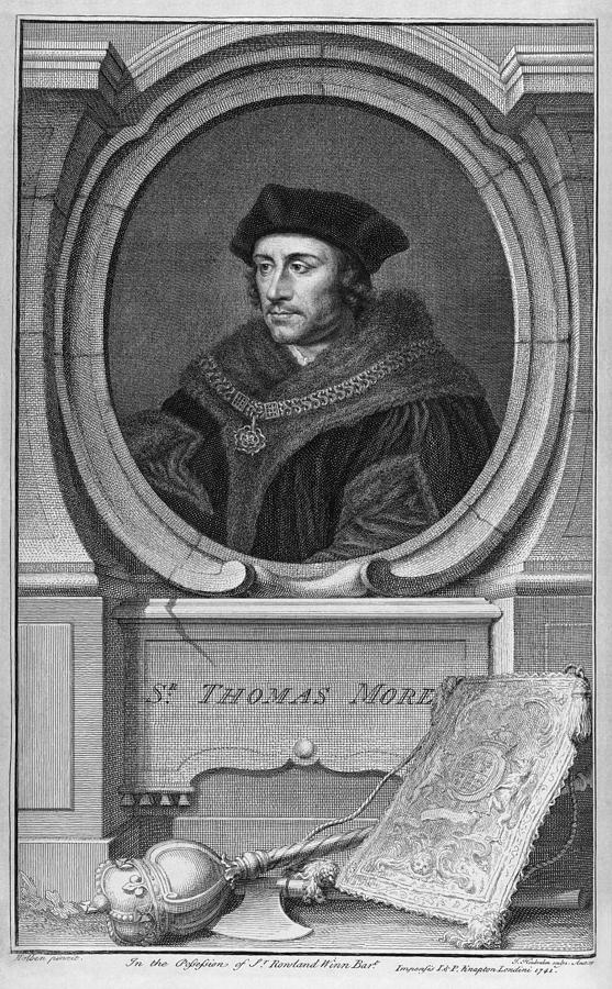 1500s Photograph - Sir Thomas More, English Statesman by Middle Temple Library