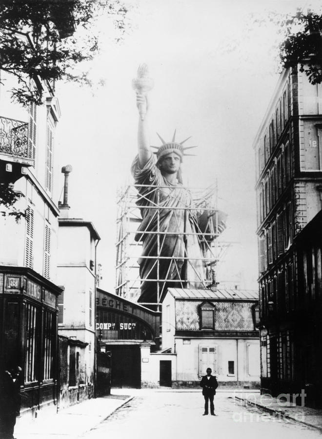 1884 Photograph - Statue Of Liberty, Paris by Granger