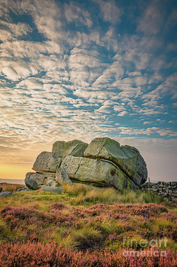 Sunset By Hitching Stone Photograph
