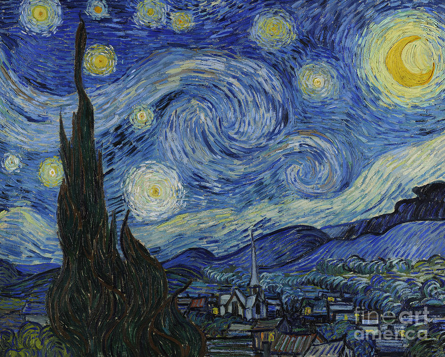 Vincent Painting - The Starry Night by Vincent Van Gogh