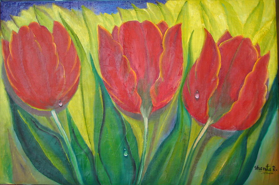 3 Tulips - 3 Tulipas Mixed Media