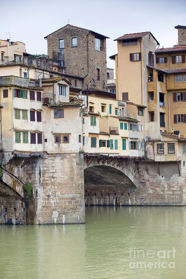 Ancient Photograph - Ponte Vecchio by Andre Goncalves