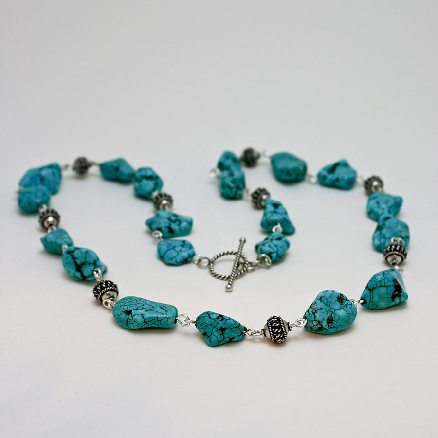 Original Jewelry - 3599 Turquoise Necklace by Teresa Mucha