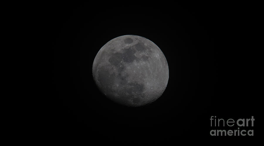 Waxing Gibbous Photograph