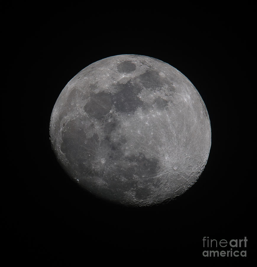 Near Side Of The Moon Photograph