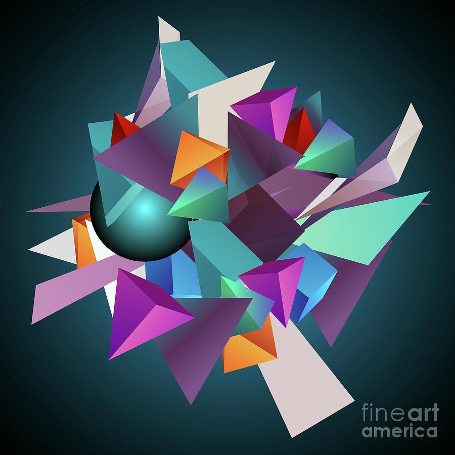 3d Geometric Digital Art by Amir Faysal