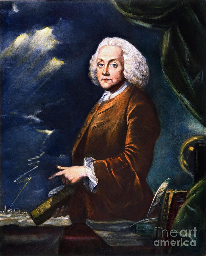 1761 Photograph - Benjamin Franklin (1706-1790) by Granger