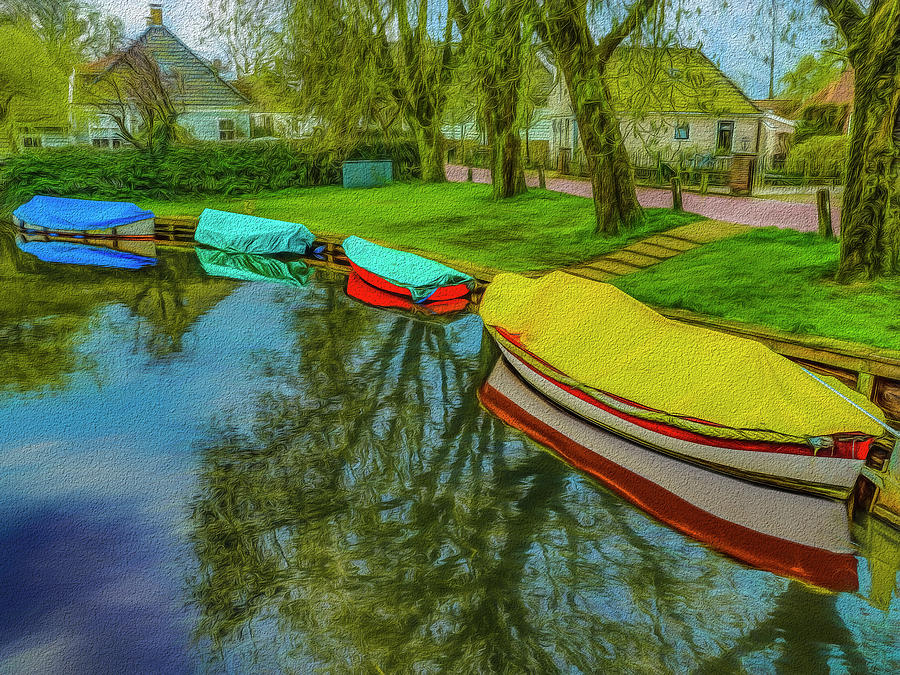 4 Boats Broek In Waterland Photograph