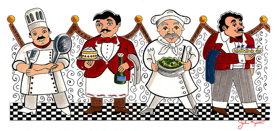 4 Chefs Painting