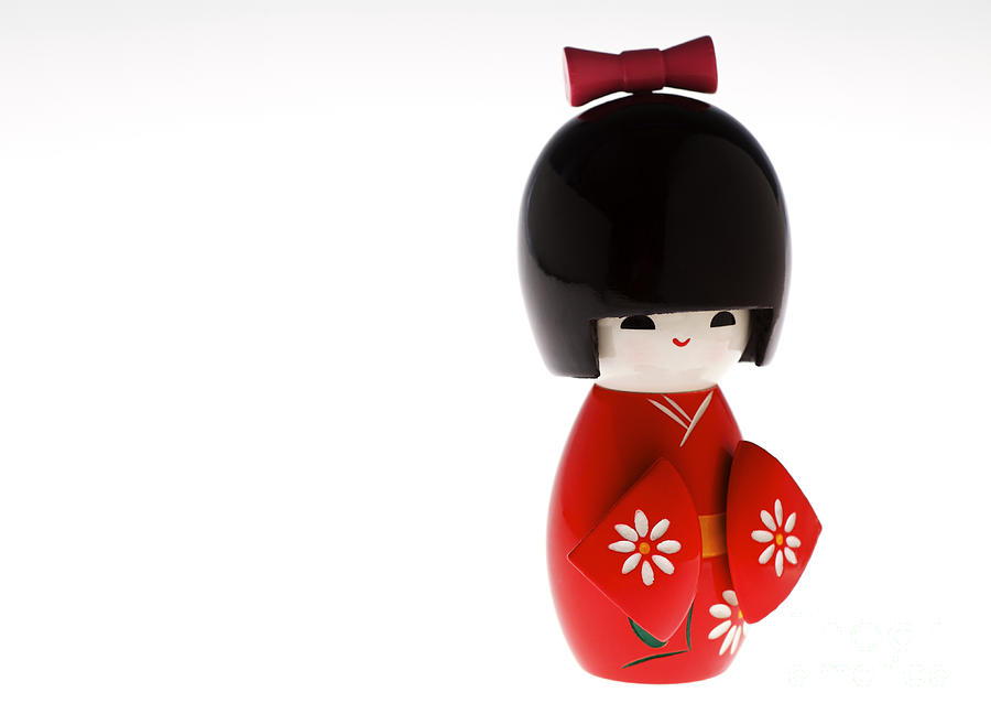 Asian Cultural Art Photograph - Kokeshi Doll by Larry Dale Gordon - Printscapes