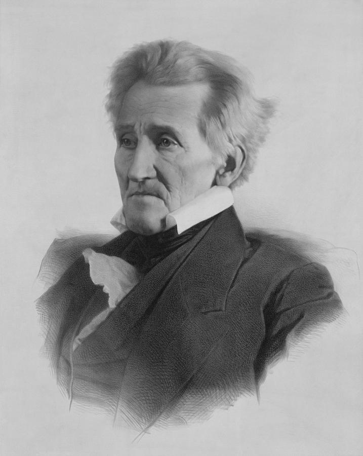 Andrew Jackson Painting - President Andrew Jackson  by War Is Hell Store