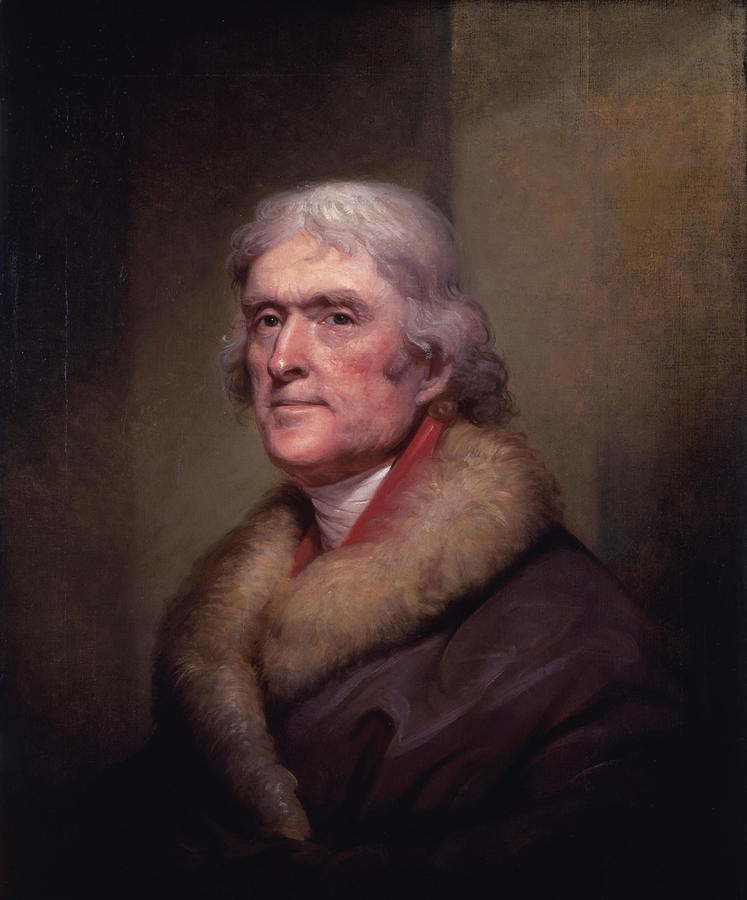Thomas Jefferson Painting - President Thomas Jefferson by War Is Hell Store