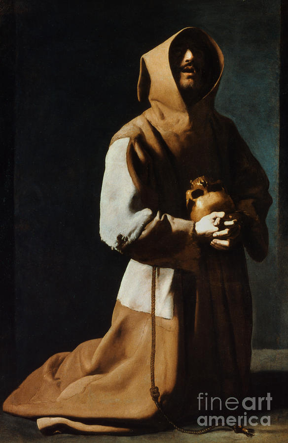 12th Century Painting - St Francis Of Assisi by Granger