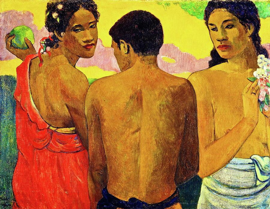 Three Tahitians Painting